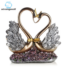 Strongwell Eroupe Lovers Swan Statue Living Room Desk Vintage Home Decor Valentines Gift Decoration Accessories Modern