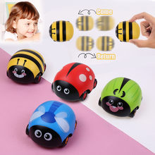 Double Side Come/Black Drive Cute Mini Beetle Pull Back Cart Vehicle Toy kids toys for children car model gift(China)