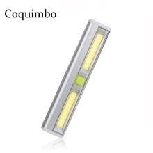 Magnetic Ultra Bright Mini COB LED ไฟ LED สวิทช์ไฟ LED แบตเตอรี่ดำเนินการโคมไฟไร้สายสำหรับโรงรถ Closet ห้องนอน