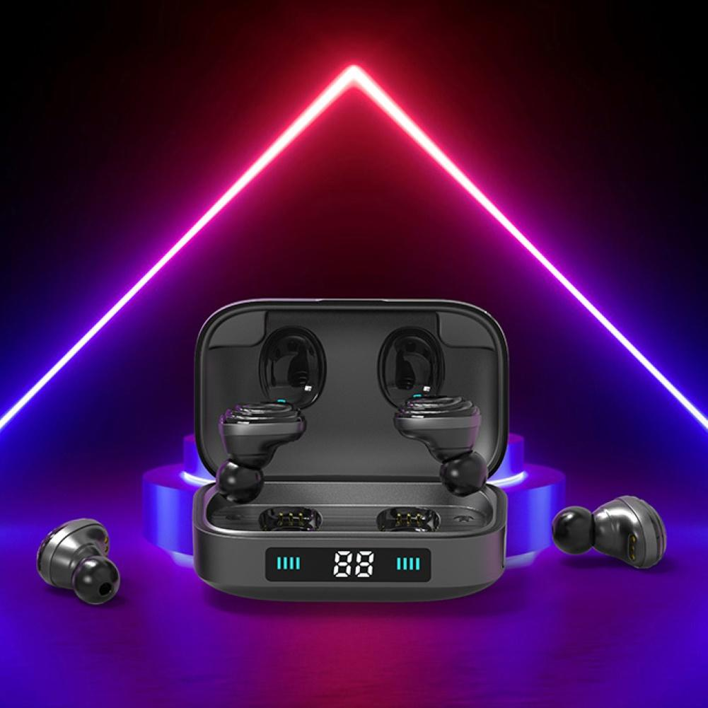 H01 <font><b>TWS</b></font> Bluetooth Earphone True Wireless Bluetooth 5.0 Earbuds 9D Stereo Music Headphones Touch Control 2000mAh LED Display image