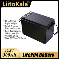 LiitoKala 12V 12.8V 90Ah 100Ah 120Ah 150Ah 180Ah 200Ah 280Ah 300Ah LiFePO4 batteria per camper camper Golf Cart Off-Road Off-grid