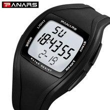 PANARS Digitale Sport Männer Uhr Dame Wirstwatches Liebhaber Uhren 50M wasserdichte Uhr Männer Handgelenk Zählen Unten relogio masculino 1610