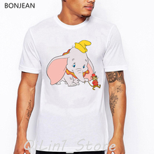 funny t shirts men clothes 2019 dumbo cartoon print t-shirt camisetas hombre white tshirt  summer fashion tops tee shirt homme