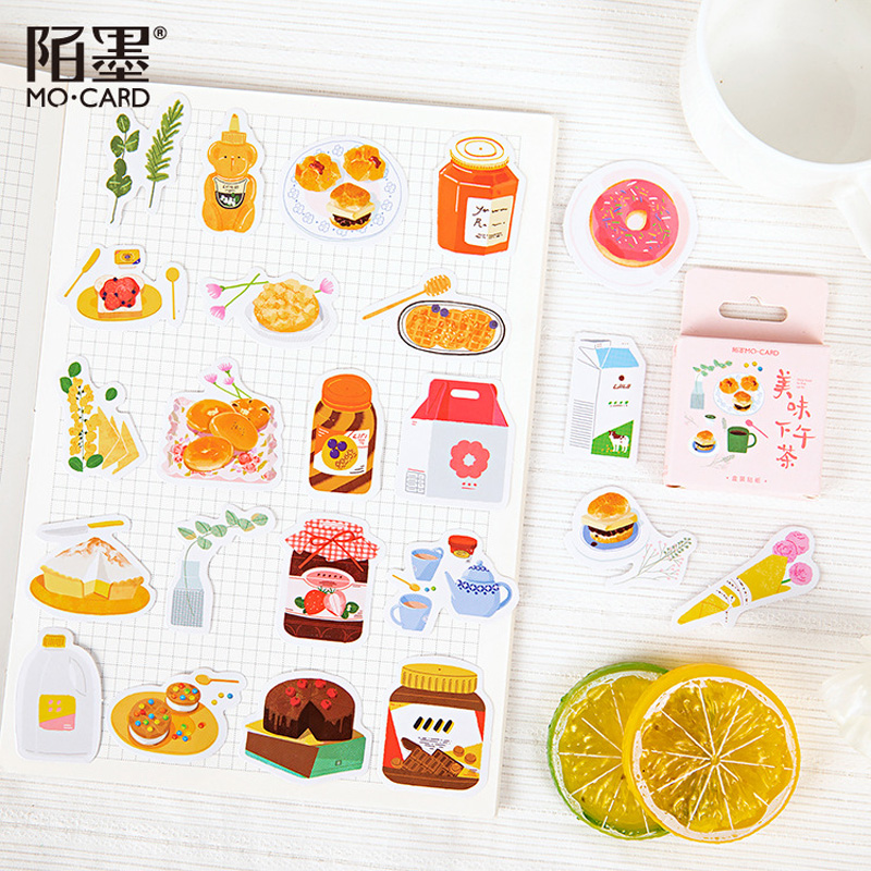 46 Pcs /Box Fruit Jam Donuts Decorative Adhesive Stickers Album Diary Paper Hand Account Notebook Decor