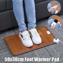 3 Pattern Leather Heating Foot Mat Warmer Electric Heating Pads Waterproof Feet Leg Warmer Carpet Thermostat Warming Tools 220V cheap CN(Origin) 51-75W 6 Hours Under