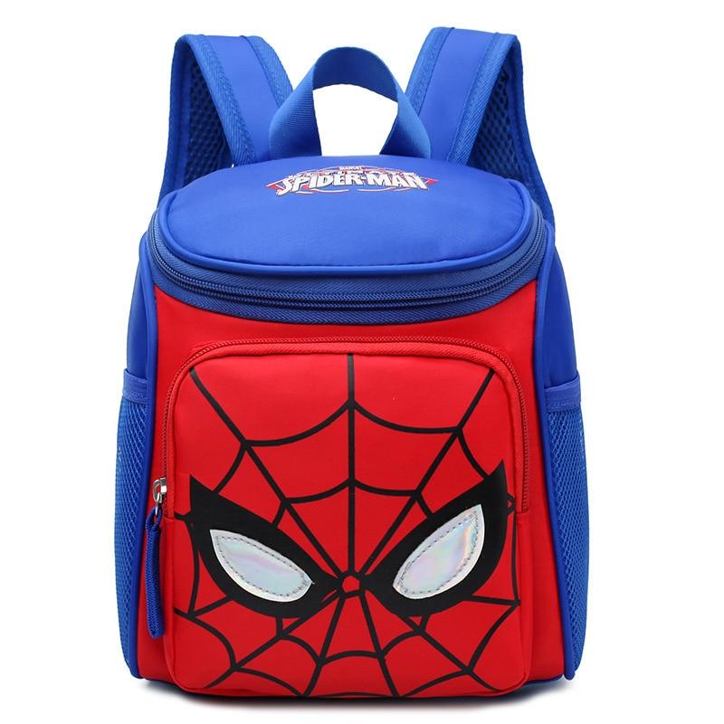 Nylon Waterproof Children Schoolbag  Anime Cartoon Spider-man Double Shoulder Bag Boy Girl Outdoor Travel Bag Mochila Infantil