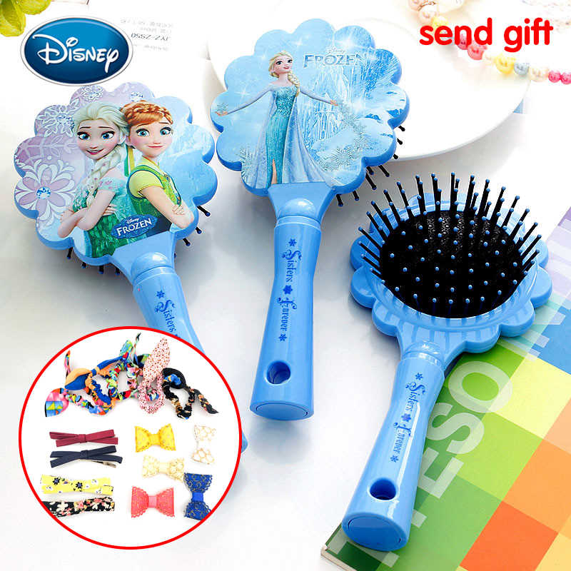 Disney 1Pcs Girl Frozen Princess Aisha Comb For Lace airbag massage comb FROZEN girl air cushion comb hair Comb Gift Accessories