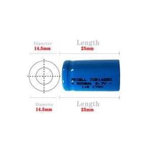 Image 2 - 5PCS ICR14250 1/2AA 300mah batteria al litio 14250 3.7v ricaricabile li ion batterie per Mirino Laser Strumento