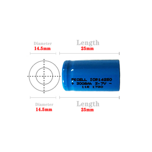 Image 2 - 5PCS ICR14250 1/2AA 300mah lithium battery 14250 3.7v li ion rechargeable batteries for Laser Sight Instrument