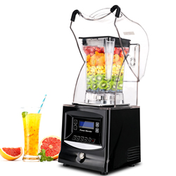 1800W Automatic Low Noise Belt Cover Sand Ice Machine Soundproofing Cooking Shaved Ice Juicer Shop Commercial Mixer  1.5L