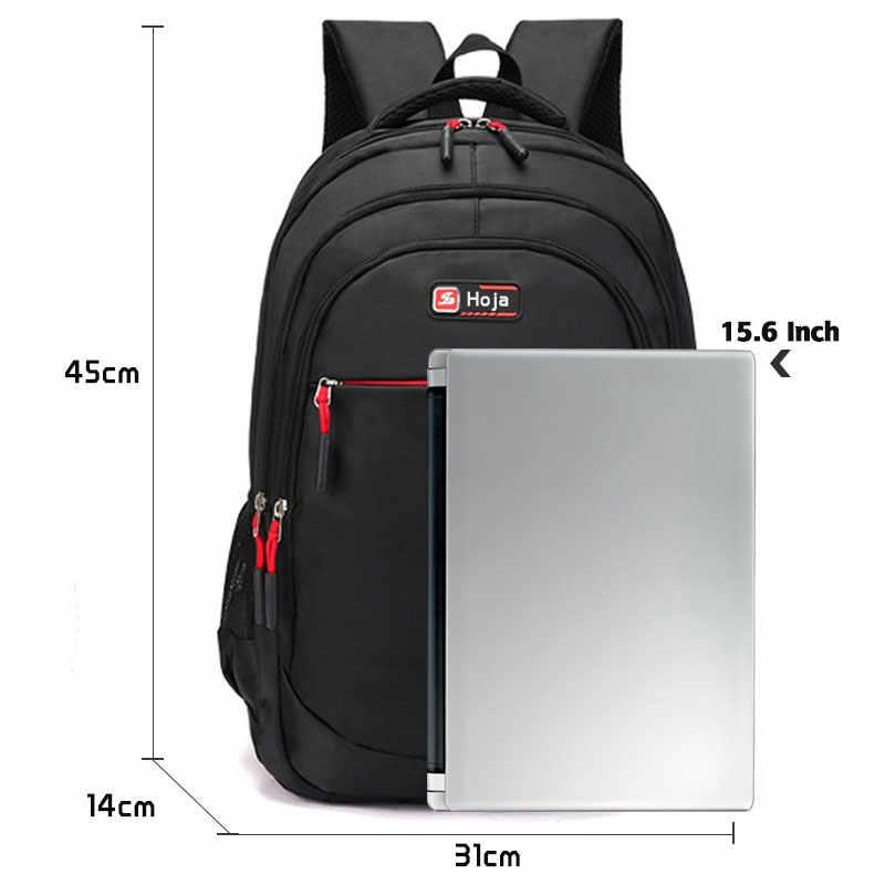 Bisnis 15.6 Inci Laptop Ransel Tahan Air Besar Gaya Kasual Pria Ransel Laptop Pria Bahan Berkualitas Tinggi Tas Travel Nylon