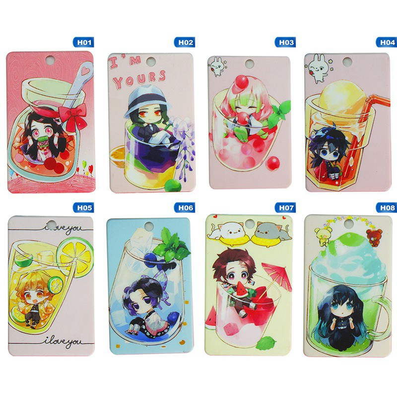 1pcs/pack Anime Demon Slayer: Kimetsu No Yaiba Student Bus Card Holder Cover Case Gift Pendant