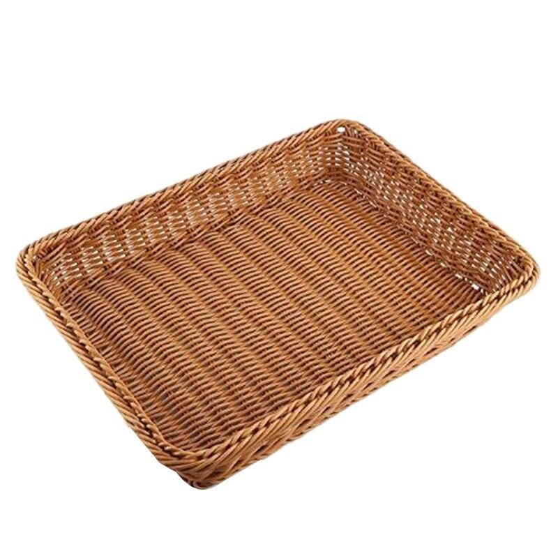 servir de verduras de frutas de alimentos de mesa tejidos Cesta de pan de mimbre cesta de servicio de restaurante