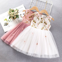 Girls Dresses 2020 Fashion Girl Dress Lace Floral Design Baby Girls Dress Kids Dresses For Girls Casual Wear Children Clothing western girl spring floral dress girl baby princess lace hollow collar fashion skirt dress kids dresses for girls knee length