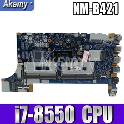 EE480 EE580 NM-B421 dla For Lenovo ThinkPad E480 E580 laptopa płyta główna 100% pracy W/ i7-8550 CPU