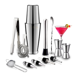 Stainless Steel Cocktail Shaker Mixer Wine Martini Boston Shaker For Bartender Drink Party Bar Tools