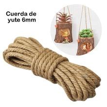 цена на 10/8/6mm Natural Jute Rope Twine Rope Handmade Jute Hemp String Twine for DIY Arts Crafts Decoration Packing Floristry Bundling