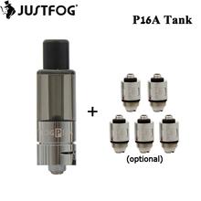 Oryginalny Justfog P16A Clearomizer zbiornika 1 9ml papierosy Atomizer 1 6ohm cewka pasuje do J-łatwe 3 baterii p16A zestaw tanie tanio JOYETECH Wymienne Justfog P16A Battery Justfog P16A Clearomizer Tank Szkło 16mm Japanese organic cotton coil