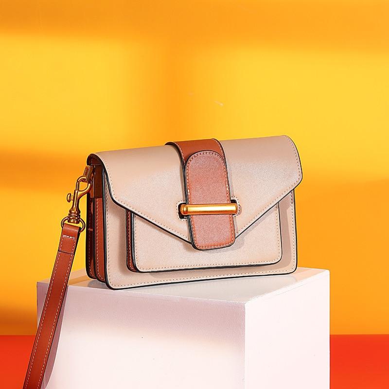 2020 New Style Women Shoulder Bag Square Sling Bag Textured Simple One-Shoulder Cool Female Crossbody Bags Laides Handbag