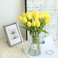 Fake Flower Fake-Bouquets Diy-Decoration Mini Tulips Artificial Party Yellow Home 1-Bunch