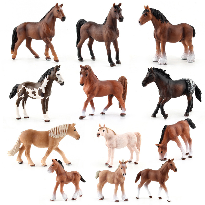 15 Styles Horse Animal Clydesdale Hanoverian Arab Shire Appaloosa Models Action Figure Educational Collection Toys Gifts Figures