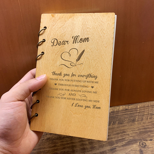Image 5 - Custom Personalised Wood Notebook Homebody for Planner journal Diary Birthday Christmas Anniversary Gifts Take Notes Sketchbook