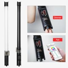 Yidoblo built in bateria LT WY2 69cm LT WY4 116cm led vara de luz de vídeo 2800 9990 k bi color iluminação de fotografia portátil