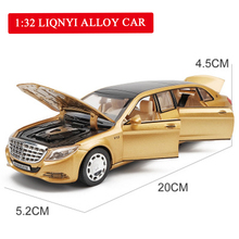 1:32 Metal Toy Car Model Maybach S650 Alloy Diecasts Vehicles With Sound Light Pull Back Toys Collection For Kids Gifts