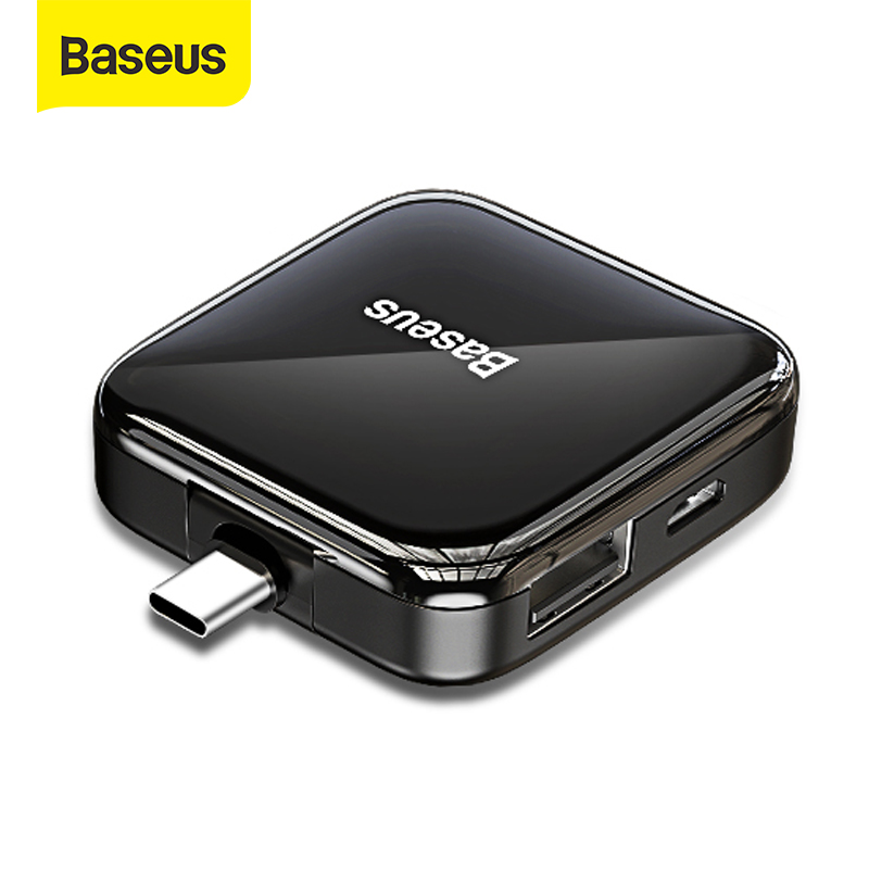 Baseus USB HUB USB C HUB To USB 2.0 For MacBook Pro Air IPad Pro 2020 Type C HUB 4 Ports USB 2.0 HUB For Xiaomi Samsung Notebook