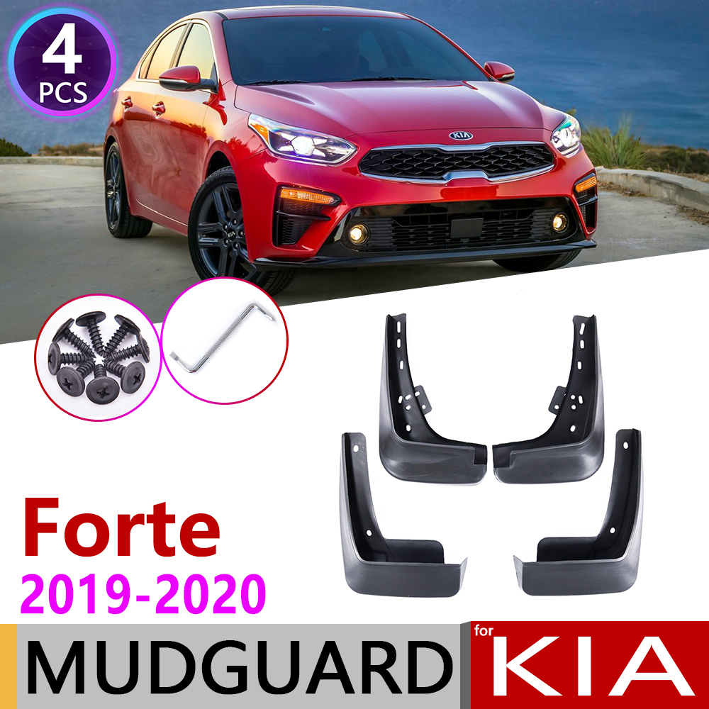 4pcs Front Rear Car Mudflap For Kia Forte K3 BD 2019 2020 Fender Mud Guard Flap Splash Flaps Mudguards Accessories Cerato Vivaro