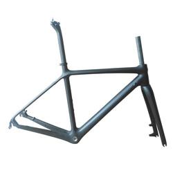 2020 新カーボンロードバイクフレーム道路サイクリング自転車フレームセットディスクブレーキ/V ブレーキカーボンフレームフォークシートポスト