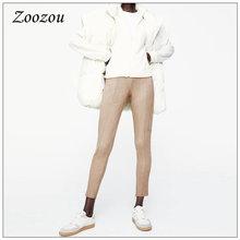 Женская обувь с низким голенищем на молнии Длина замшевые кожаные