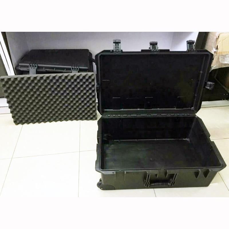 Купить с кэшбэком waterproof tool case trolley shipping case 802*521*301 mm deposit box Impact Plastic toolbox camera case equipment box with foam