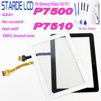 100% testowane Digitizer ekran dotykowy Panel szklany do Samsung Galaxy Tab 10.1 3G P7500 P7510 GT-P7500 P7510 P7501 (nie montaż lcd
