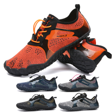2017 summer outdoor anti slip hiking shoes men women breathable mesh trekking shoes sports sneakers walking aqua shoe lightweigt Mesh Breathable Aqua Shoes Men Women Quick Dry Sneakers Upstream Shoes Non-slip Outdoor Wading Shoes Sports Water Shoes