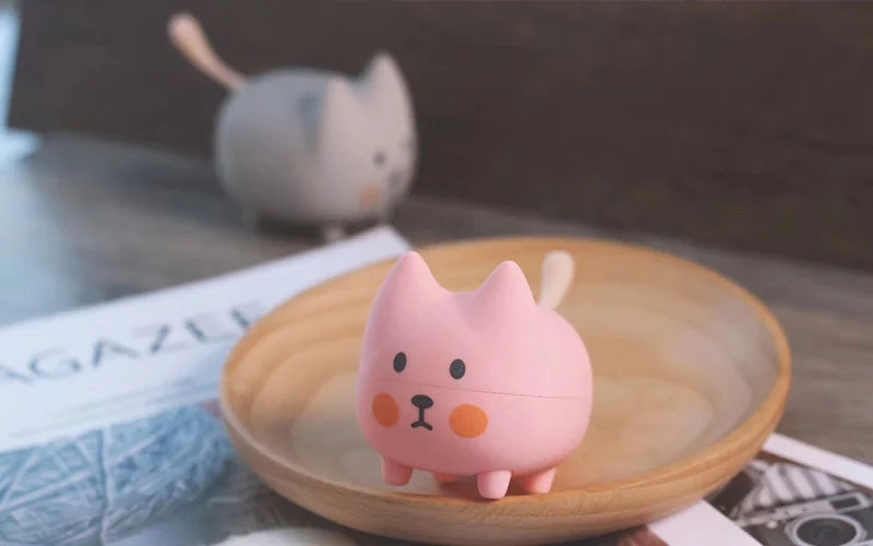 The latest OEM cute <font><b>cat</b></font> animal mini portable <font><b>bluetooth</b></font> <font><b>speaker</b></font> image