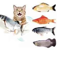 Eletrônico 3d flippity peixe brinquedo gato nip carregamento usb simulação brinquedos para jogo interativo gatos pet catnip gatinho acessórios