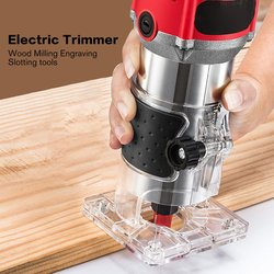Multi Function Woodworking Electric Trimmer Cutter Wood Milling Engraving Slotting Trimming Machine Router w Elektryczne trymery od Narzędzia na