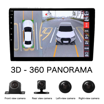 Car AHD 3D HD 360 Degree Surround View 4 Camera Parking Assistance Monitoring System Driving Panoramic DVR Recorder Navigation 3d car 360 hd surround view monitoring system 360 degree driving bird view panorama car cameras 4 ch dvr recorder with g sensor