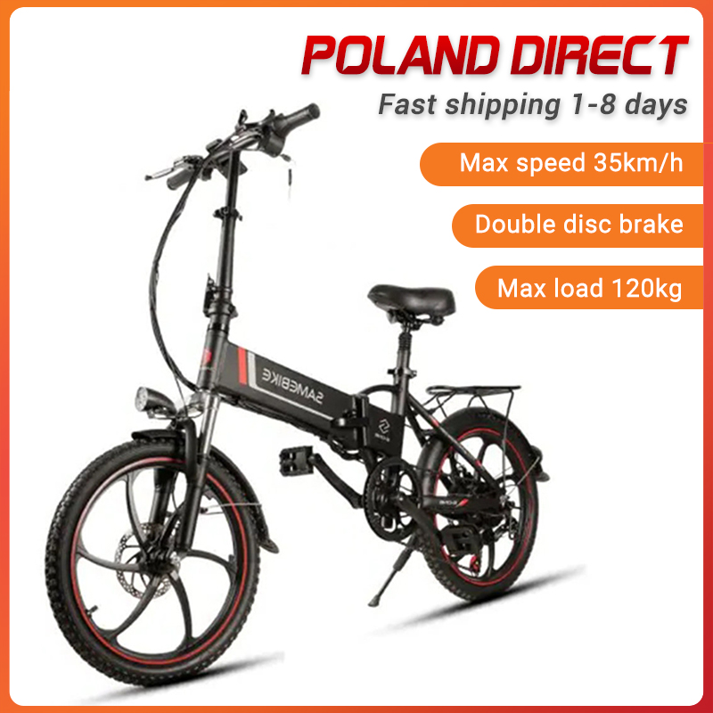 [EU Direct] Samebike 20LVXD30 7 Speed 48V 350W Smart Folding Electric Bike 35km/h Max Speed Electric Bicycle E-Bike EU Plug