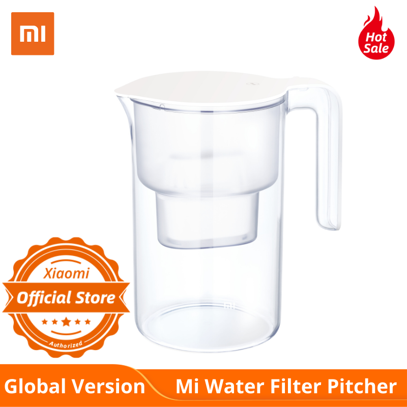 Global Version Xiaomi Mi Water Filter Pitcher 2L Super Disinfection Seven Heavy Multi Effect Filters For Baby Famlily