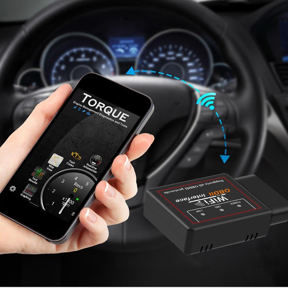 Neue ELM327 Auto Diagnose PIC18F25K80 WIFI V 1,5 OBD2 Scanner Für BMW E90 E91 E92 E93 F12 X3 M3 Mini cooper Code Reader