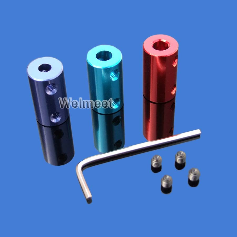 2mm/3mm/3.17mm/4mm/5mm/6mm/6.35mm/7mm/8mm/10mm Aluminum Rigid Shaft Coupler Rigid Coupling Motor Connector image