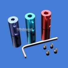 2mm/3mm/3.17mm/4mm/5mm/6mm/6.35mm conector de alumínio para motor de acoplamento, acoplador rígido de alumínio, 7mm/8mm/10mm