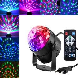 Colorido Bola de Discoteca DJ Luz Lumiere 3W Som Ativado RGB Projetor Laser Stage Lighting effect Lâmpada Música KTV Natal partido