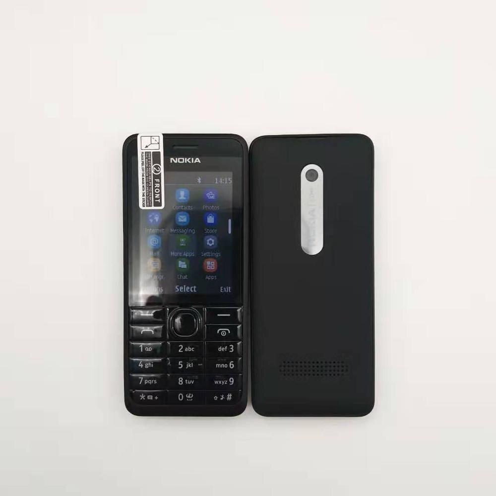 Gran oferta desbloqueado Nokia 301 original GSM 2,4 'Dual SIM Cards 3.2MP teléfono móvil reacondicionado Original reacondicionamiento transmisión CVT correa de cadena OEM 901063