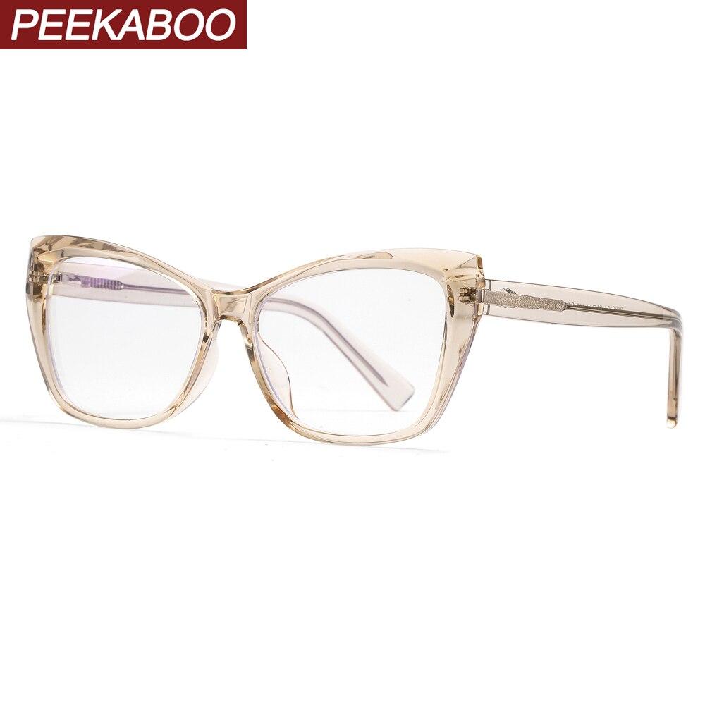 Peekaboo Blue Light Filter Glasses Protection Computer Accessories Acetate Prescription Glasses Frames For Women Tablet