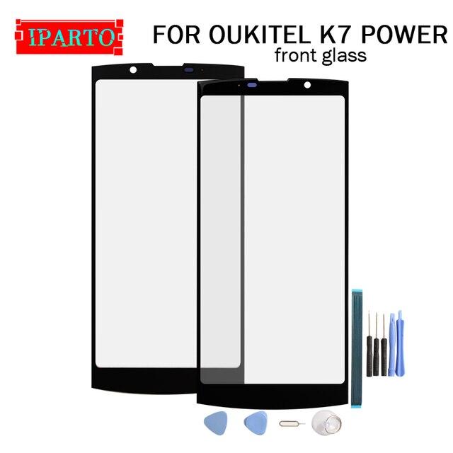 OukiteためK7パワーフロントガラススクリーンレンズ100% 新フロントタッチスクリーンガラスアウターレンズoukitel K7電源 + ツール