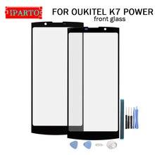Pour OUKITE K7 lentille décran en verre avant électrique 100% nouvelle lentille extérieure en verre décran tactile avant pour OUKITEL K7 POWER + Tools