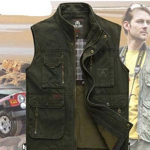 Image 2 - Chaleco de algodón puro para hombre, chaleco clásico de alta calidad para primavera y verano, ocio, muchos bolsillos, fotografía, abrigo del director, 2020
